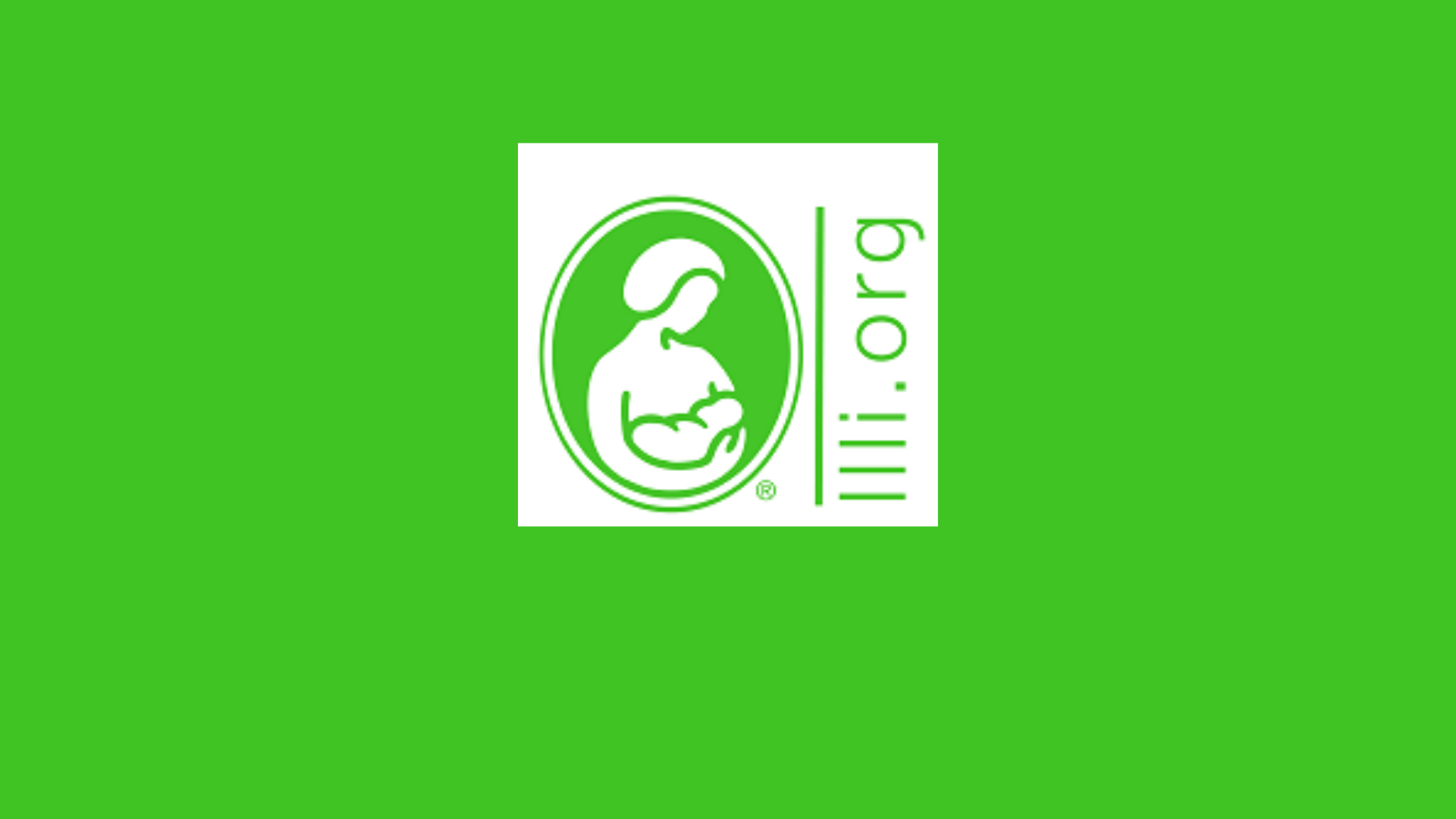 Green background with LLLI logo in white in the centre