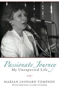 Cover of Passionate Journey showing Marian Tompson speaking into a microphone