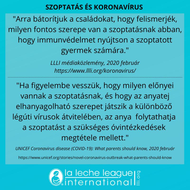 """""""Arra bátorítjuk a családokat, hogy felismerjék, milyen fontos szerepe van a szoptatásnak abban, hogy immunvédelmet nyújtson a szoptatott gyermek számára."""""""